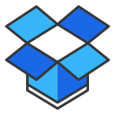 dropbox, internet, media, network, online, social, storage icon