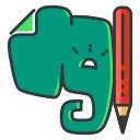 evernote, internet, media, network, online, social icon