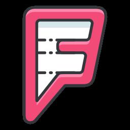foursquare, internet, media, network, online, social icon