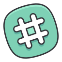hashtag, internet, media, network, online, social icon