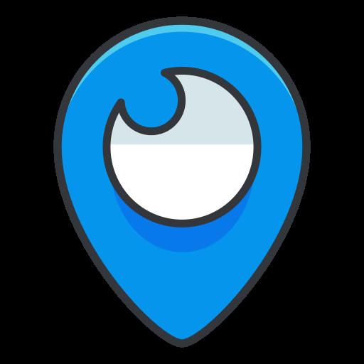 internet, location, media, network, online, social icon