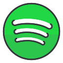 spotify, network, entertainment, media, communication, social icon