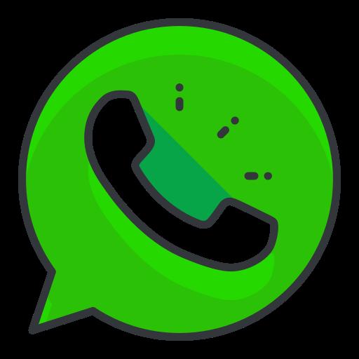 communication, media, network, social, whatsapp icon