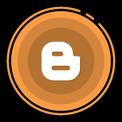 blogger, social media icons icon