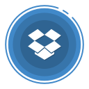 dropbox, social media icons icon