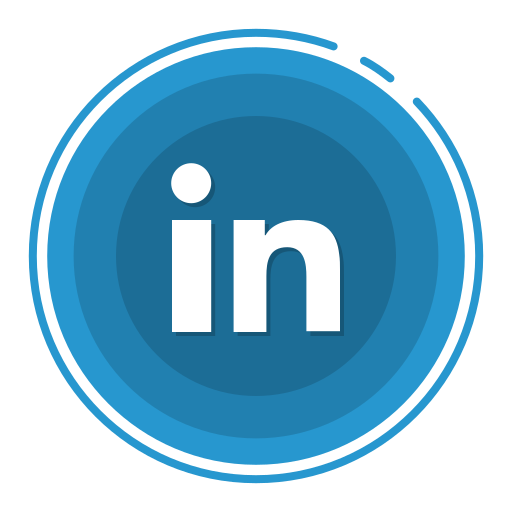 in, linked, social media icons icon