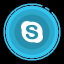 skype, social media icons