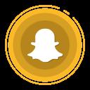 snapchat, social media icons icon