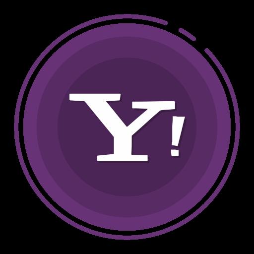 social media icons, yahoo icon