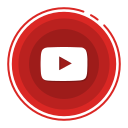 social media icons, youtube icon