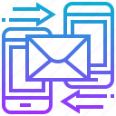 electronic, exchange, letter, mail, message icon