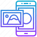 gallery, image, library, photo, smartphone icon