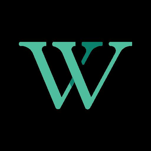 media, network, online, social, wikipedia icon