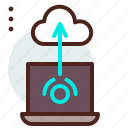 backup, cloud, download, transfer, upload, wifi icon