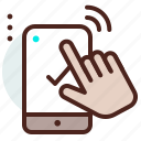 checkmark, completed, gesture, mobile, touch icon