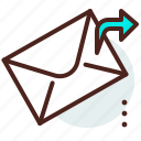 browser, email, envelope, message, send icon