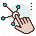 gesture, hand, tap icon