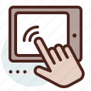 gesture, hand, mobile, pad, touch icon