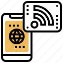 connection, internet, network, signal, wireless icon