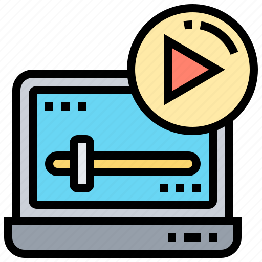 clip, graphic, media, play, video icon