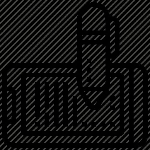 blogging, design, note, template, writing icon