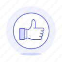 circle, like, media, social, thumb, up