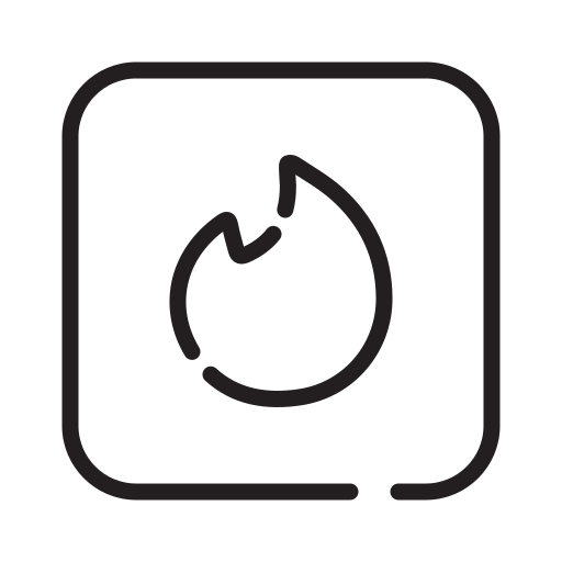 Date Tinder Chat Social Media Icon