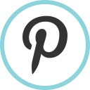 media, pinterest, social, web icon
