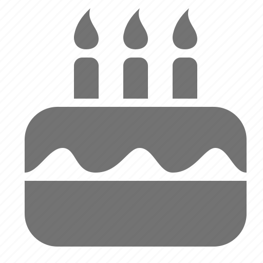 Birthday cake candle celebration event icon Icon search engine