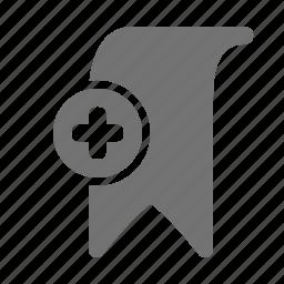 add, bookmark, favorite, plus icon