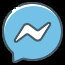 facebook, logo, messenger