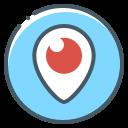 logo, periscope, pin