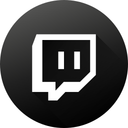 black white, game, gamer, gaming, gradient, social media, twitch icon