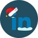 linkedin, christmas, snow, social