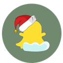 snapchat, christmas, snow, social icon