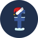 christmas, facebook, snow, social icon