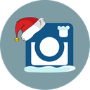 instagram, santa hat, snow icon