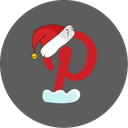 christmas, pinterest, snow, social icon