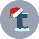 christmas, santa hat, snow, tumblr icon