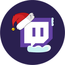 christmas, stream, twitch icon