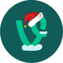 christmas, holiday, snow, vine icon