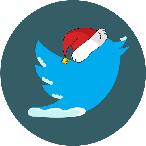 christmas, snow, social, twitter icon