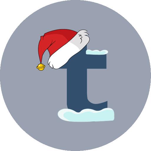 christmas, santa hat, snow, tumblr icon