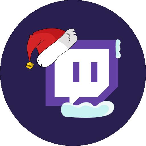 christmas, stream, twitch icon