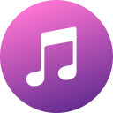 circle, colored, gradient, itunes, media, social, social media icon