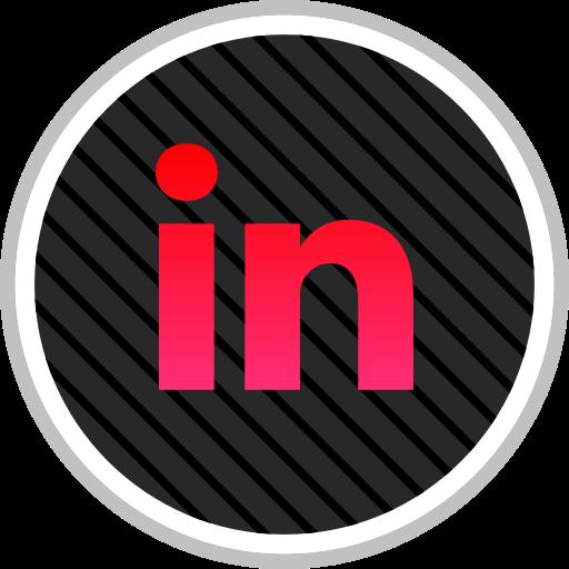 linkedin, media, online, social icon