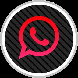 media, online, social, whatsapp icon