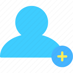 add, communication, interaction, media, social, user, web icon