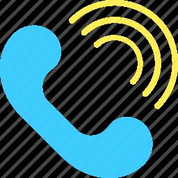 auricular, communication, interaction, media, phone, social, web icon