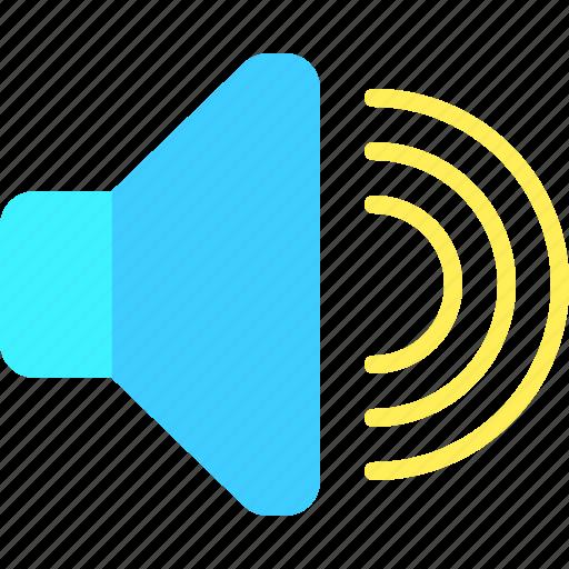 communication, interaction, media, social, speaker, web icon
